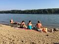 pláž pri Dunaji